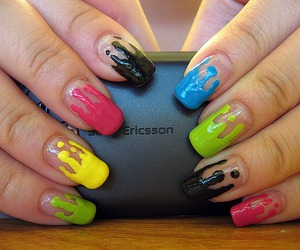 colors, nails, and creative image