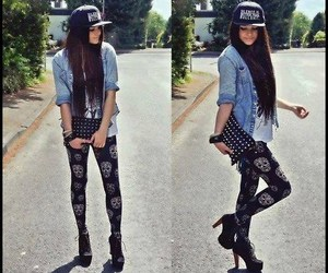 girl, cap, and style image