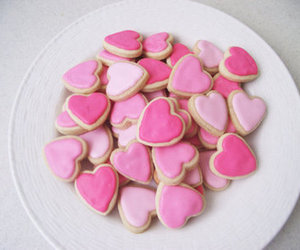 pink, food, and Cookies image