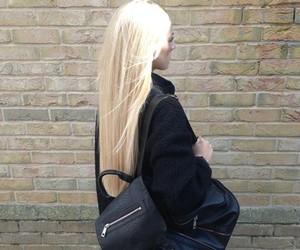 black, blonde, and fashion image
