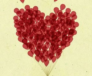 balloons, Valentine's Day, and Flying image