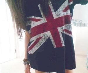 girl, england, and t-shirt image