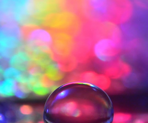 colorful and raindrop image