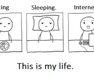 internet, life, and sleep image