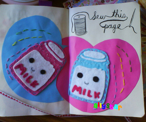 keri smith, wreck this journal, and sew this page image