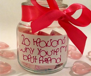 best friend, gift, and jar image