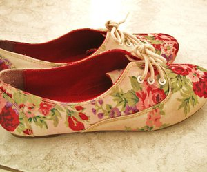shoes, floral, and flowers image