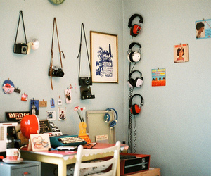 room, vintage, and camera image