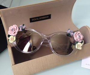 fashion, sunglasses, and flowers image