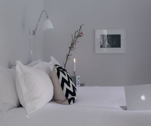 bed, black, and InteriorDesign image