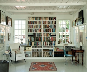 books, white, and living image