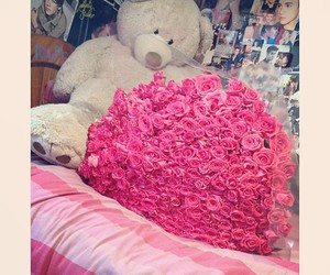 bear, boyfriend, and roses image