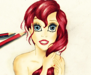 ariel, childhood, and drawing image