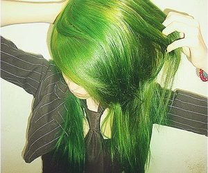 green, hair, and verde image