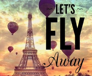 ballons, fly, and paris image