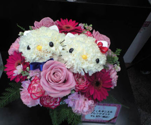 flowers, hello kitty, and cute image