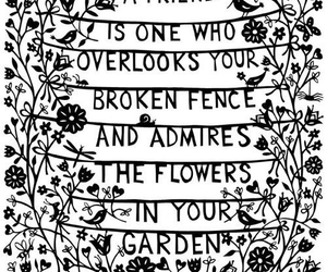 friends, quotes, and flowers image