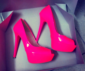 fluor, heels, and pink image