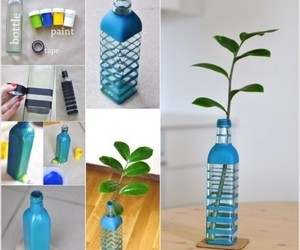diy, bottle, and blue image