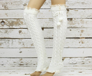 sock, button leg warmers, and lace socks image