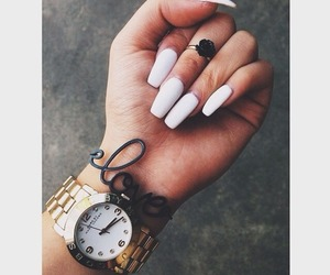 nails, accessories, and girl image