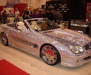 car and glitter image