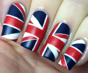 nails, blue, and red image