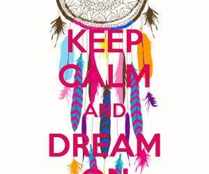 bright, dreamcatcher, and keep calm image