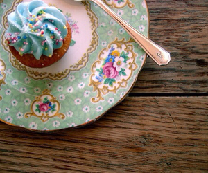 cupcake, sweet, and blue image