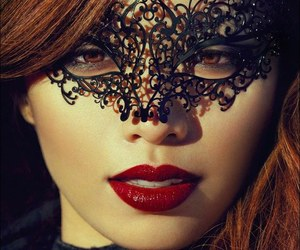 mask, lips, and michelle phan image