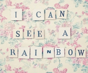rainbow, text, and quote image