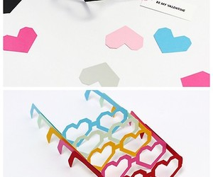 glasses, hearts, and valentines day image