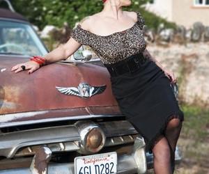 bandana, red, and rockabilly girl image