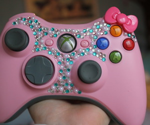 pink, xbox, and hello kitty image