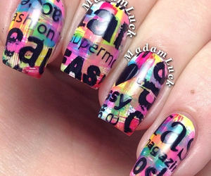 black, colorful, and letters image
