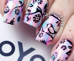 bird, nails, and prettys image