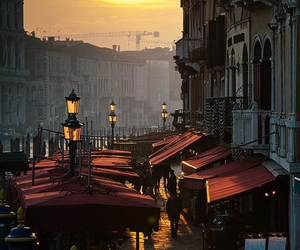 italy, sunset, and venice image
