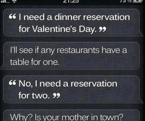 funny, siri, and valentines day image