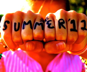 hands, words, and summer image