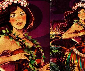 Aloha, girl, and hawaii image