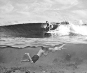 love, surf, and kiss image