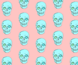 skull, wallpaper, and blue image