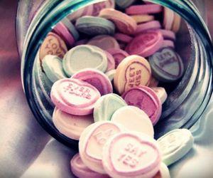 food, pills, and hearts image