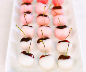 cherry, food, and pink image