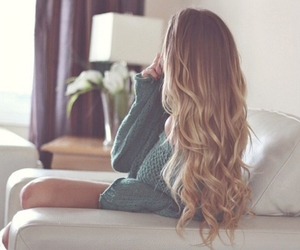 blonde, curly, and long hair image