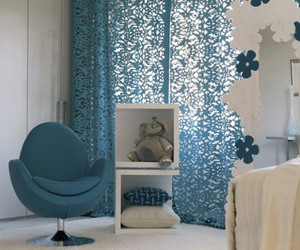 armchair, blue, and decor image