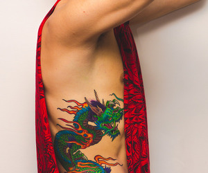 dragon tattoo, japan, and tattoo image