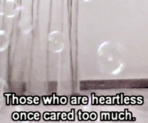 heartless, quote, and care image