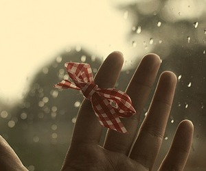 bow, hand, and rain image