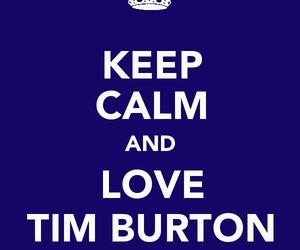 keep calm and tim burton image